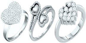 Diamond Heart Rings
