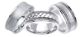 Designer White Gold Bands