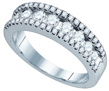 Ladies Diamond Anniversary Band 14K White Gold 1.07 cts. GD-76229
