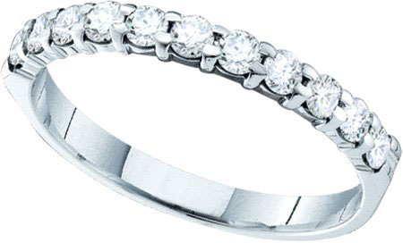 Ladies Wedding Diamond Band 14K White Gold 0.10 cts. GD-55053