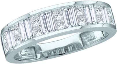Ladies Diamond Band 14K White Gold 0.50 cts. GD-11505