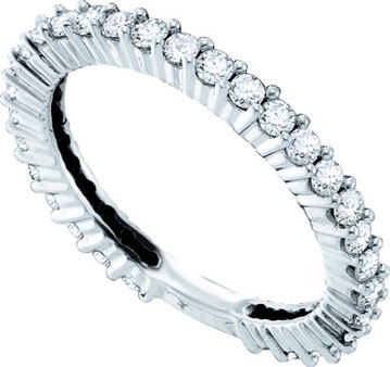 Ladies Diamond Eternity Band 14K White Gold 0.75 cts. GD-38787