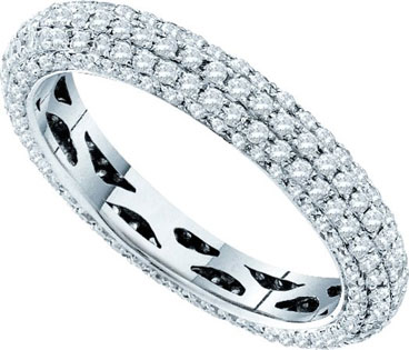 Ladies Diamond Band 14K White Gold 1.25 cts. GD-39898