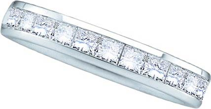 Ladies Diamond Band 14K White Gold GD-40740