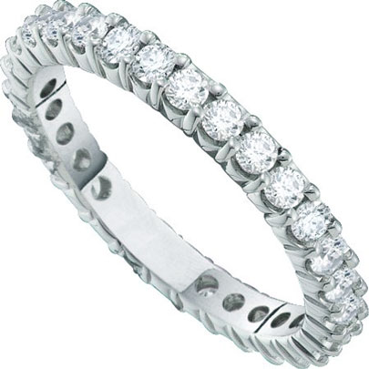 Ladies Diamond Eternity Band 14K White Gold 0.50 cts. GD-40800