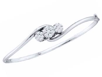 Ladies Diamond Bangle 14K White Gold 1.00 ct. GD-14257