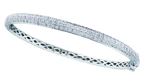 Ladies Diamond Bangle 14K White Gold 1.00 ct. GD-40243