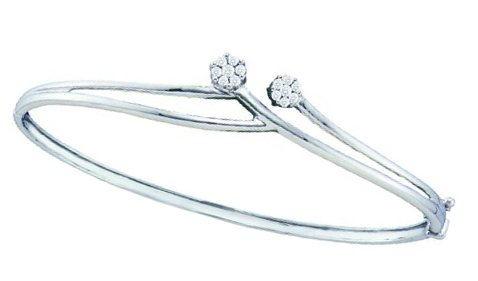 Ladies Diamond Bangle 14K White Gold 0.25 cts. GD-44385