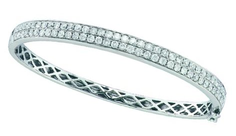 Ladies Diamond Bangle 14K White Gold 3.00 ct. GD-45733