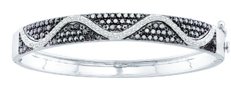 Ladies Diamond Bangle 14K White Gold 2.55 cts. GD-51706