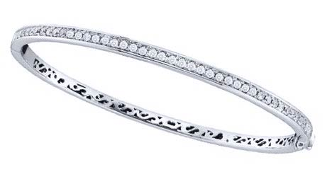 Ladies Diamond Bangle 14K White Gold 1.00 ct. GD-52920