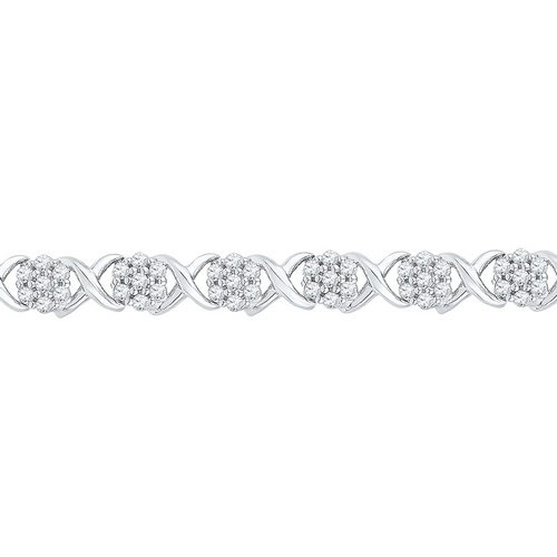 Diamond Fashion Bracelet 10K White Gold 0.25 cts. GD-97567