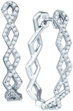 Diamond Fashion Earrings 10K White Gold 0.50 cts. GD-71983