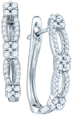 Diamond Fashion Earrings 10K White Gold 0.52 cts. GD-71985
