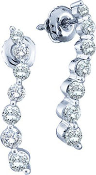 Diamond Journey Earrings 10K White Gold 0.25 cts. GD-49098
