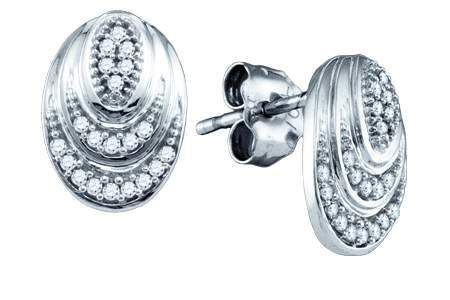 Diamond Fashion Earrings 10K White Gold 0.12 cts. GD-73991