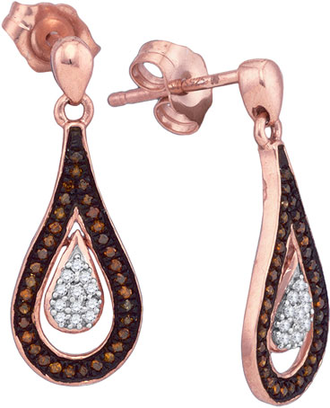 Ladies Diamond Fashion Earrings 10K Rose Gold 0.21 cts. GD-88355