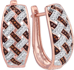 Ladies Diamond Fashion Earrings 10K Rose Gold 0.30 cts. GD-88327