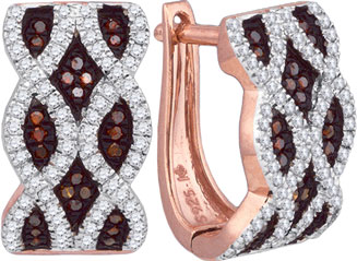 Ladies Diamond Fashion Earrings 10K Rose Gold 0.50 cts. GD-88344
