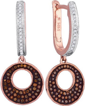 Ladies Diamond Fashion Earrings 10K Rose Gold 0.40 cts. GD-88363