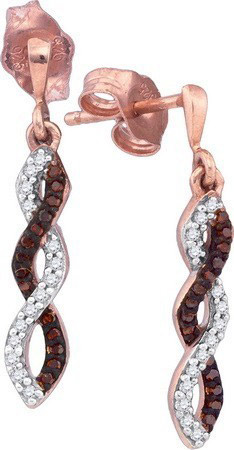 Ladies Diamond Fashion Earrings 10K Rose Gold 0.16 cts. GD-89960