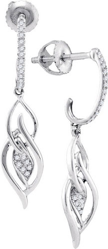 Diamond Fashion Earrings 10K White Gold 0.10 cts. GD-97831