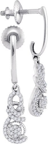 Diamond Fashion Earrings 10K White Gold 0.20 cts. GD-98328