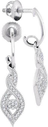 Diamond Fashion Earrings 10K White Gold 0.15 cts. GD-98330