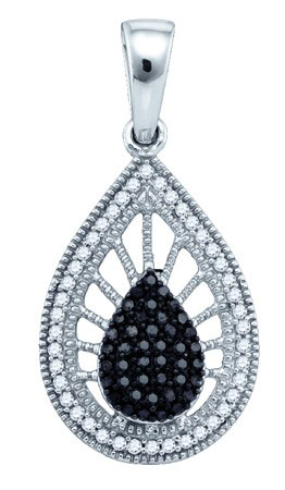 Black Diamond Pendant 10K White Gold 0.25 cts. GD-80000