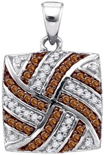 Brown Diamond Fashion Pendant 10K White Gold 0.25 cts. GD-87101