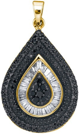 Black Diamond Fashion Pendant 10K Yellow Gold 1.00 cts. GD-88929
