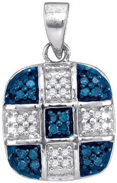 Blue Diamond Fashion Pendant 10K White Gold 0.20 cts. GD-89074