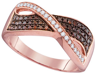 Ladies Diamond Fashion Ring 10K Rose Gold 0.34 cts. GD-104325