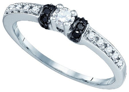 Black Diamond Fashion Ring 10K White Gold 0.27 cts. GD-83397