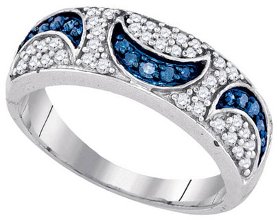 Blue Diamond Fashion Band 10K White Gold 0.47 cts. GD-85666