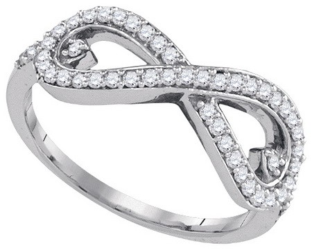 Ladies Diamond Fashion Ring 10K White Gold 0.35 cts. GD-86955