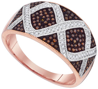Ladies Diamond Fashion Ring 10K Rose Gold 0.40 cts. GD-88365
