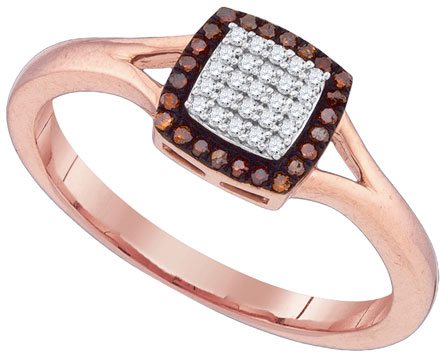Ladies Diamond Fashion Ring 10K Rose Gold 0.14 cts. GD-88371