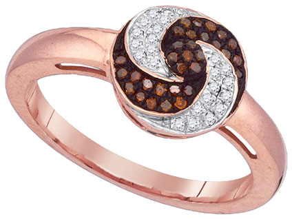 Ladies Diamond Fashion Ring 10K Rose Gold 0.18 cts. GD-88375