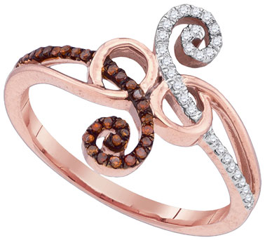 Ladies Diamond Fashion Ring 10K Rose Gold 0.20 cts. GD-88581