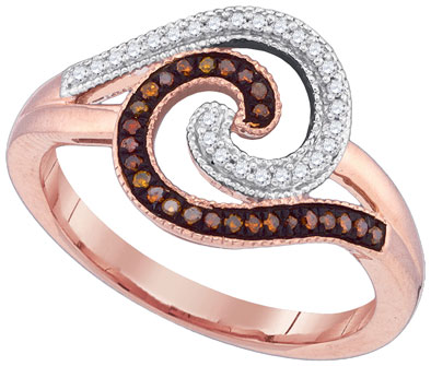 Ladies Diamond Fashion Ring 10K Rose Gold 0.17 cts. GD-89734