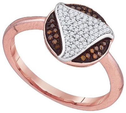 Ladies Diamond Fashion Ring 10K Rose Gold 0.17 cts. GD-89941