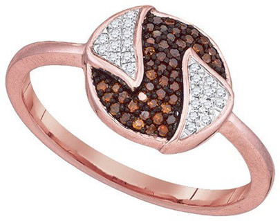 Ladies Diamond Fashion Ring 10K Rose Gold 0.16 cts. GD-89942