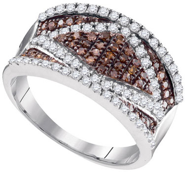 Ladies Diamond Fashion Ring 10K White Gold 0.90 cts. GD-95212