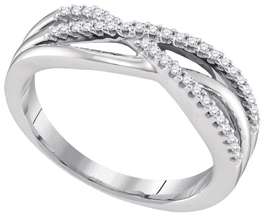 Ladies Diamond Fashion Band 10K White Gold 0.16 cts. GD-96588