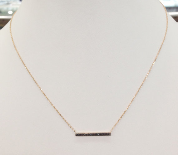 Black Diamond Necklace 14K Rose Gold 0.15 cts. 6J7400