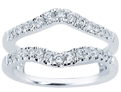 Diamond Ring Enhancer 14K White Gold 0.50 cts CL-34117
