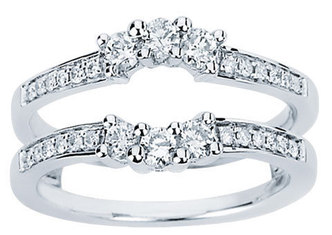 diamond ring enhancer 14k white gold 050 cts cl 34122 cl 34122 67999 diamonds engagement rings wedding bands his and hers sets - Wedding Ring Enhancers