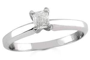 Diamond Solitaire Ring 14K White Gold 0.25 cts DSRP-025