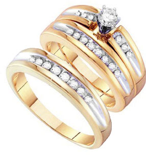 Three Piece Wedding Set 10K Yellow Gold 0.50 cts. GD-26493